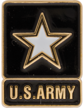 Army New Army Star Design Lapel Pin