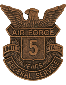 USAF Length of Service Button 5 Years Lapel Pin