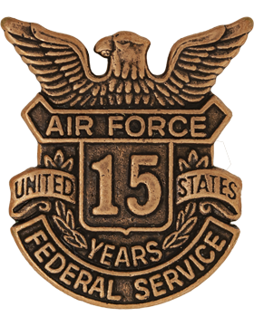 USAF Length of Service Button 15 Years Lapel Pin