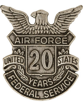 USAF Length of Service Button 20 Years Lapel Pin