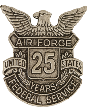 USAF Length of Service Button 25 Years Lapel Pin