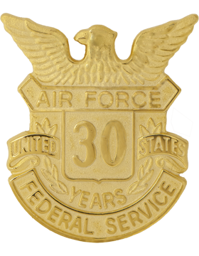 USAF Length of Service Button 30 Years Lapel Pin