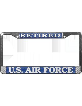 LFAF02 U.S. Air Force Retired License Plate Frame