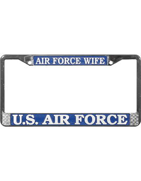 LFAF11 Air Force Wife License Plate Frame