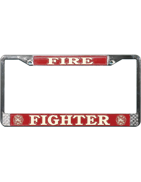 LFFD Fire Fighter License Plate Frame