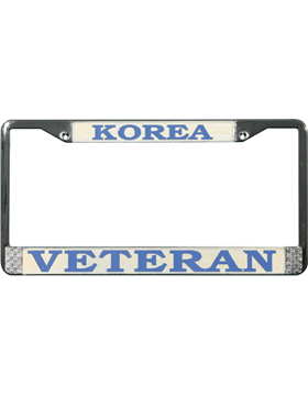 LFKV Korean War Veteran License Plate Frame