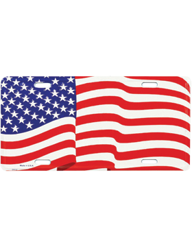 LFLAG American Wavy Flag License Plate