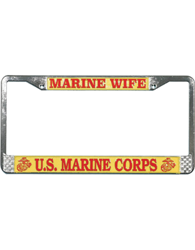 LFM09 Marine Wife License Plate Frame