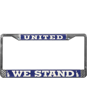 LFUWS United We Stand License Plate Frame small