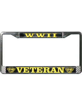 LFWWII World War II Veteran License Plate Frame