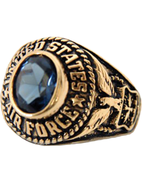 Ladies US Air Force Ring Style 70 Gold Plated