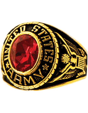 Ladies US Army Ring Style 70 Gold Plated