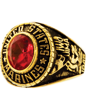 Ladies US Marine Corps Ring Style 70 Gold Plated