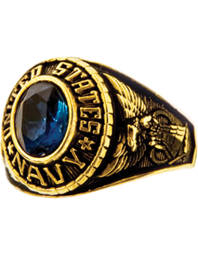 Ladies US Navy Ring Style 70 Gold Plated