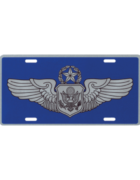 License Plate, Silver, USAF Master Non-Rated Aircrew on Blu