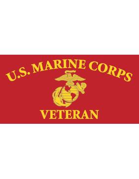 License Plate, Silver, U.S. Marine Corps Veteran w/Emblem