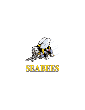 License Plate, Silver, Seabee w/Navy Bee, Gold on Silver