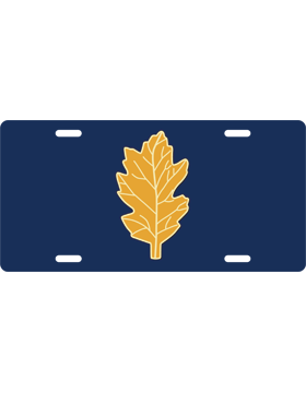 License Plate, Silver, Officer Nurse, Gold on Navy