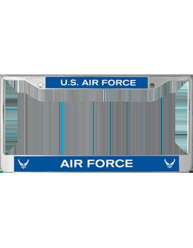 License Plate Frame, LPF-AF-100, United States, Air Force on RoyalBlue