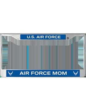 License Plate Frame, LPF-AF-106, Air Force Mom, US Air Force on Blue