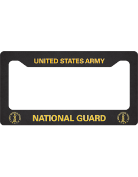 license plate frame army national guard goldblack