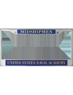 License Plate Frame, LPF-NY-106, Midshipmen, United States Naval Acad.