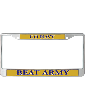 license plate frame lpf ny 111 go navy beat army navy on yellow