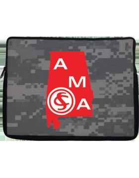 14in Laptop Sleeve Alabama Military Academy, 1-sided