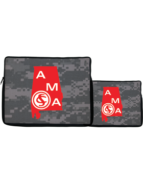 14in Laptop Sleeve Alabama Military Academy, 2-sided