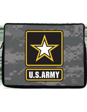 Laptop Sleeve Army Star U.S. Army on Camo