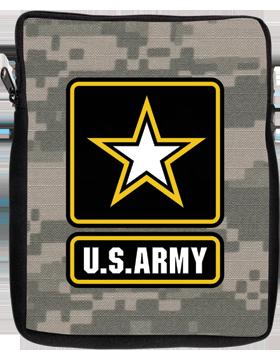 iPad Sleeve Army Star U.S. Army on Camo 1 Sided