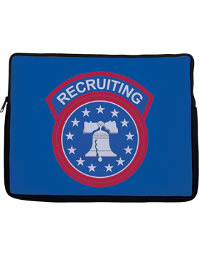 Laptop Sleeve Recruiting Command on Blue