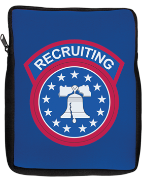 iPad Sleeve Recruiting Command on Blue 1 Sided