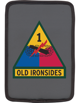 Kindle Sleeve 1st Armored Division Patch Dark Gray 1 Sided