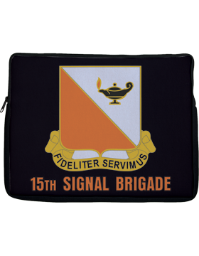 Laptop Sleeve 15th Signal Brigade Crest on Black