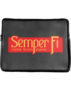 Laptop Sleeve, Semper Fi U S Marines, 14in 1 Sided