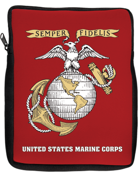 iPad Sleeve, Semper Fi U S Marines, 10in 1 Sided