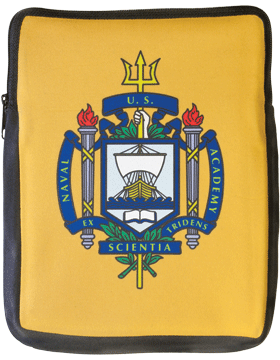 Laptop Sleeve, USNA Shield, on Yellow, 14in 1 Sided