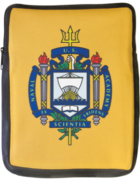 iPad Sleeve, USNA Shield, on Yellow, 10in 1 Sided