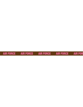 Lanyard Air Force Pink on Brown Buckle