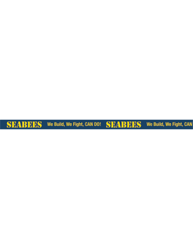 Seabees We Build, We Fight, Can Do! Lanyard
