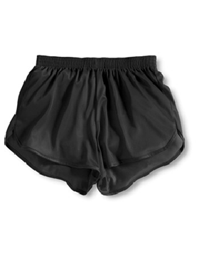 Soffe Black Adult Tricot Running Shorts