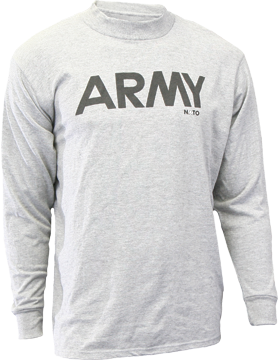 Reflective Army PT T-Shirt, Long Sleeve