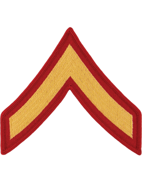 Gold/Red Male Chevron (101) Private First Class USMC (Pair)