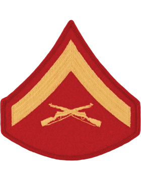 Gold/Red Male Chevron (102) Lance Corporal USMC (Pair)