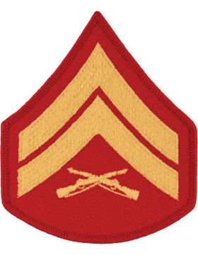 Gold/Red Female Chevron (103) Corporal USMC (Pair)