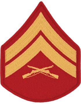 Gold/Red Male Chevron (103) Corporal USMC (Pair)