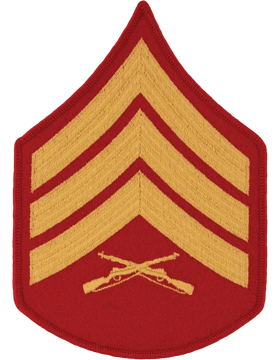 Gold/Red Female Chevron (104) Sergeant USMC (Pair)
