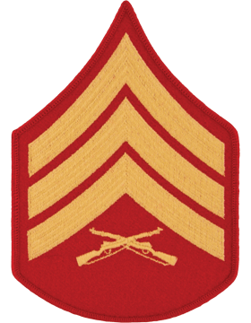 Gold/Red Male Chevron (104) Sergeant USMC (Pair)