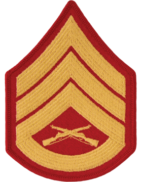Gold/Red Female Chevron (105) Staff Sergeant USMC (Pair)